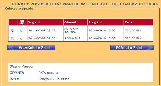 bilety autobusowe z gdyni do rzymu