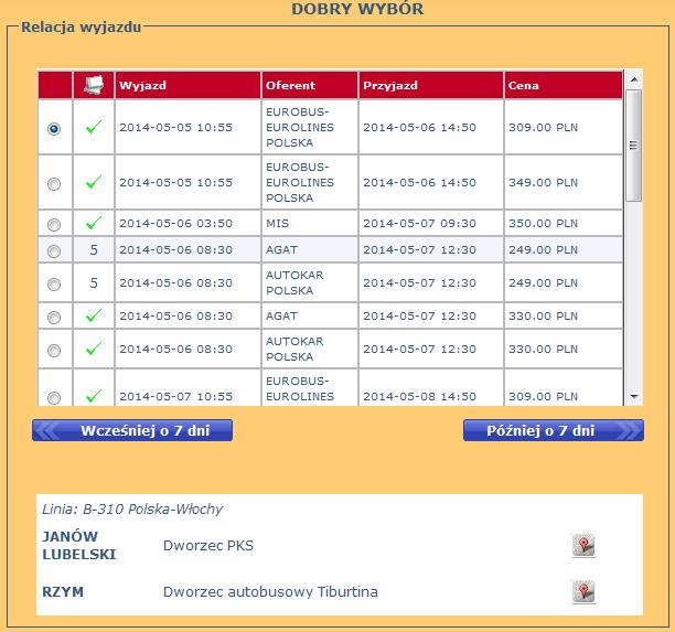 bilety autobusowe z janowa lubelskiego do rzymu