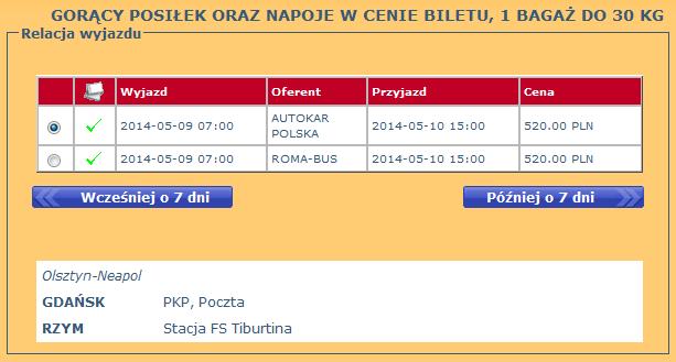 bilety autokarowe z Gdańska do Rzymu