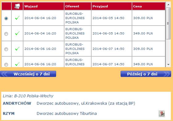 bilety eurobus-eurolines andrychów rzym